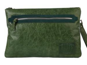 Guess men's bag handbag in genuine leather green