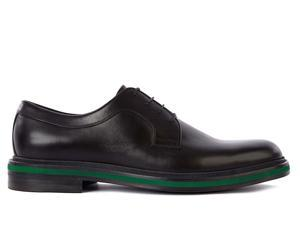 Gucci men's classic leather lace up laced formal shoes derby black