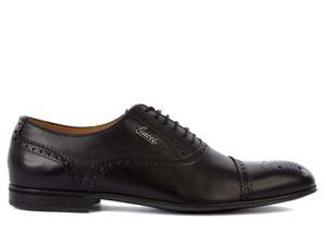 Gucci scarpe stringate classcihe men's in leather nuove brogue black