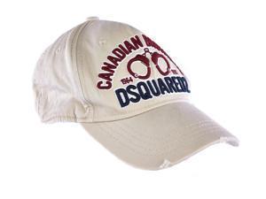 Dsquared2 adjustable men's cotton hat baseball cap beige