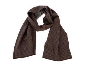 Fendi men's wool scarf  brown