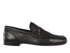 Gucci men's leather loafers moccasins road black