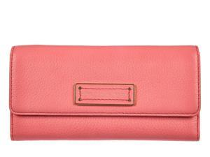 Marc by Marc Jacobs women's wallet leather coin case holder purse card bifold bright coral pink