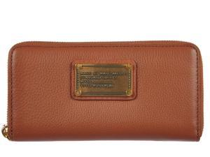 Marc by Marc Jacobs women's wallet leather coin case holder purse card bifold smoked almond brown