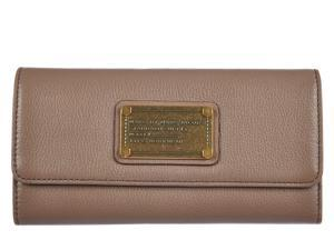 Marc by Marc Jacobs women's wallet leather coin case holder purse card bifold rootbeer brown