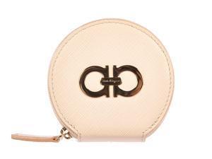 Salvatore Ferragamo women's wallet genuine leather coin case holder purse card quarzo pink