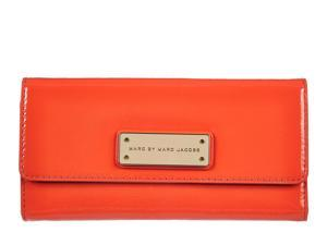 Marc by Marc Jacobs women's wallet leather coin case holder purse card bifold vibrant orange orangene