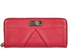 Marc by Marc Jacobs women's wallet leather coin case holder purse card bifold raspberries fucsia
