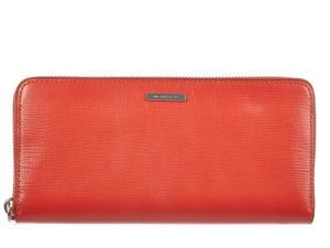 Michael Kors women's wallet leather coin case holder purse card bifold multi orangene