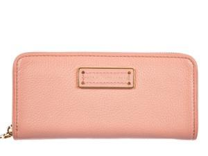 Marc by Marc Jacobs women's wallet leather coin case holder purse card bifold peach flower pink