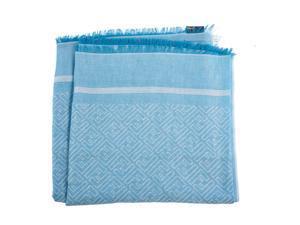 Fendi men's cotton scarf  blu
