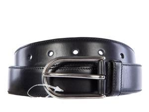 Prada men's genuine leather belt calfskin lux black