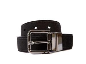 DOLCE&GABBANA men's adjustable length reversible leather belt black