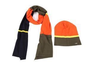 Iceberg men's wool beanie hat with scarf orangene