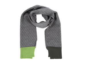 Fendi men's wool scarf  grey