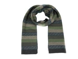Fendi men's wool scarf  green