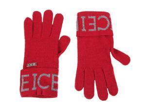 Iceberg men's wool gloves  red