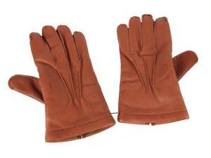 Fendi men's leather gloves  brown
