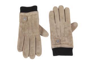 Calvin Klein men's leather gloves  grey