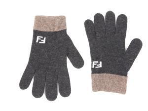 Fendi men's wool gloves  grey