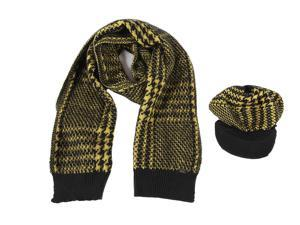 Iceberg women's wool beanie hat with scarf yellow