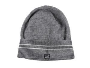 Emporio Armani EA7 women's wool beanie hat grey
