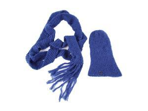 Calvin Klein women's wool beanie hat with scarf blu