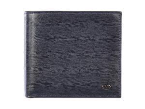 Valentino Garavani men's genuine leather wallet credit card bifold blu