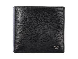 Valentino Garavani men's genuine leather wallet credit card bifold black