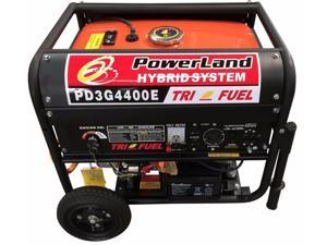 Powerland Hybrid 4400 Watt TRI Fuel (Gasoline / Propane/Ng) Generator - 7.5hp Electric Start