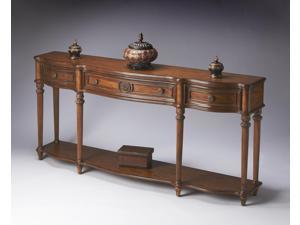 Butler Console Table, Vintage Oak Finish