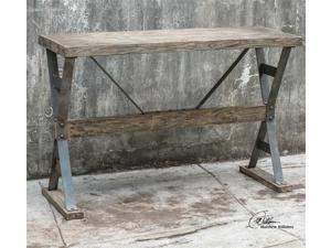 Uttermost Makoto Wooden Industrial Sofa Table