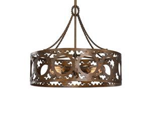 Uttermost Antrim 4 Light Bronze Drum Pendant