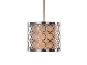 Uttermost Harwich 1 Light Brushed Nickel Mini Pendant