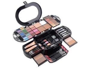 CC-1807 Cameo Collection Carry All Trunk Professional Makeup Kit -Eyeshadow,Pedicure,manicure Cosmetic Beauty SetWith Clear Case
