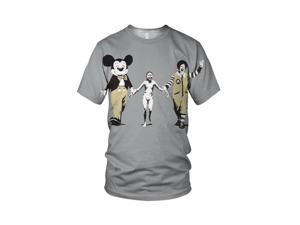 Banksy Napalm Girl From Vietnam War Men's Fashion T Shirt, White, S
