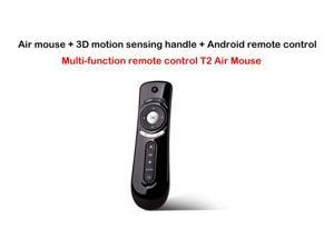 Fly Air Mouse T2 2.4G mini Wireless Keyboard Mouse Android remote control 3D Sense Motion Stick For TVBox