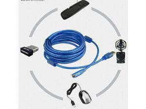Tekit USB 2.0 Extender transparent Cable 10FT M-F (blue)