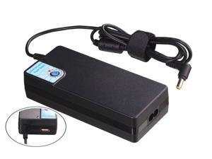 TeKit SP26 120W Universal AC/DC Power Supply with USB output (5V,1A)  and 10 tips for most Laptop brand