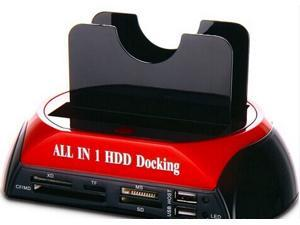 Tekit All in 1 HDD Docking,2.5''/3.5'' SATA Multi-Function HDD Docking Station SATA Hard Disk Base USB HUB Reader