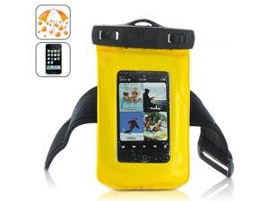 Waterproof Case for iPhone, iPod Touch, Android Smartphones, MP4 Players -Yellow