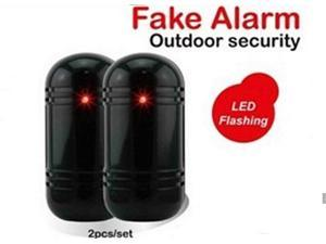 TeKit Dummy/Fake Security Detector Burglar Alarm Flashing Infrared LED Indoor Outdoor, Dummy Fake Alarm Security siren With LED Flashing Light for Home security System