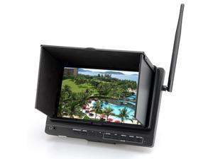 TeKit Wireless 7 Inch HD PFV Monitor with 32 Channels Receiver DVR, 700:1 Contrast Ratio, 1024X600 Resolution, HDMI, SD Card Slot