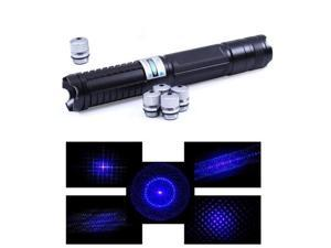 NEW 450nm Most Powerful Military Focusable Laser Pointer Pen Burn Light Beam
