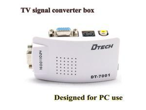 DT-7001 PC MAC VGA to AV Composite and RCA S-Video for TV/Projector Converter terminal converter box