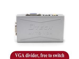 DT-7003 VGA to AV Video Converter   PC connected TV   VGA to S video cable terminal signal