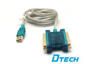 Dt-5009 USB to DB25 IEEE-1284 Parallel Printer Adapter Cable --2 DB25 Ports