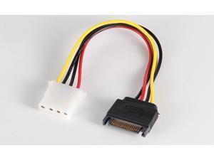 4-Pin Molex IDE to 15 Pin Serial ATA SATA HDD Power Adapter Cable SATA to IDE Power cable Converter