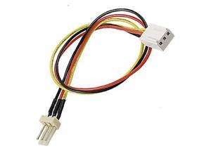 0.4ft/12cm  PC Fan 3 Pin Male to Female Extension Power Cable Cord,PC CPU fan 3-pin female to male power cable