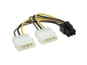 Dual 4-pin Molex LP4 to 8 Pin PCI Express Video Card Power Adapter Converter Cable,2X 4 pin to 6 pin splitter cable